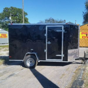 6x10 SA Trailer - Black, Ramp, Side Door