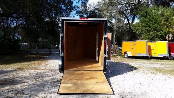 6x12 SA Trailer - Black, Ramp, Side Door, Extra Height